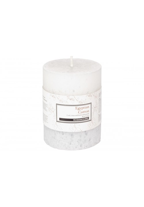 Rose Moore Scented Pillar Candle - Egyptian Cotton