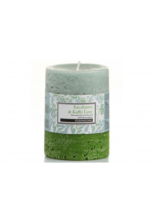 Rose Moore Scented Pillar Candle - Eucalyptus & Kaffir Lime