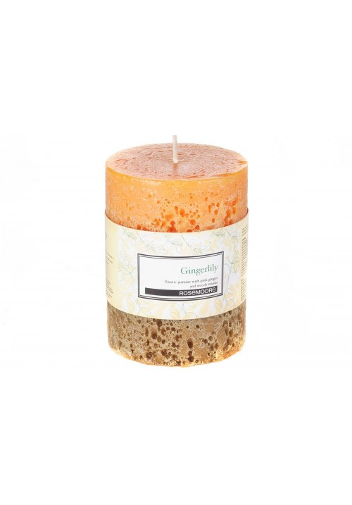 Rose Moore Scented Pillar Candle - Gingerlily