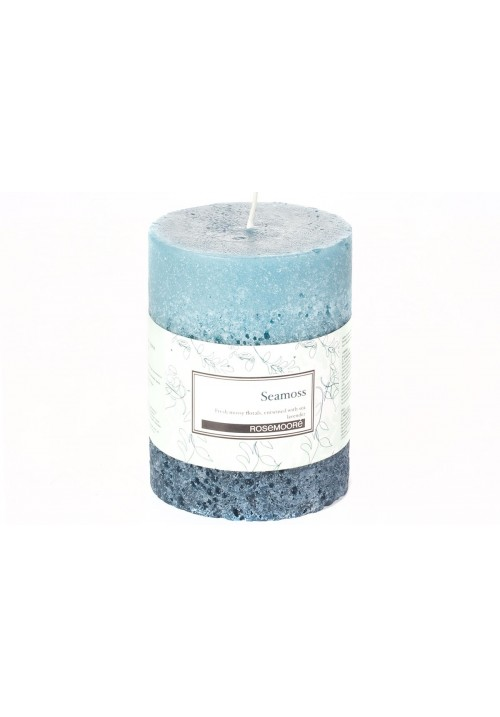 Rose Moore Scented Pillar Candle - Seamoss