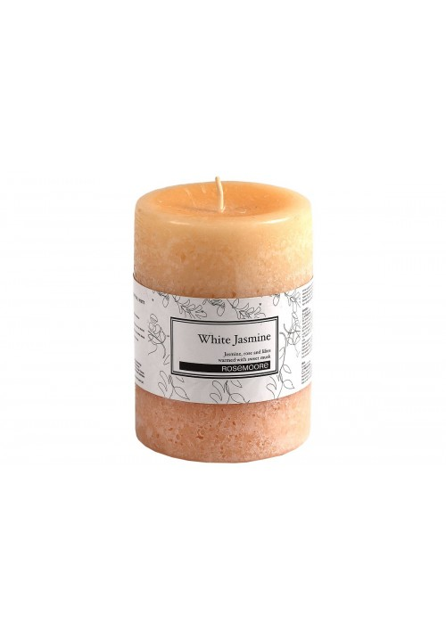 Rose Moore Scented Pillar Candle - White Jasmine