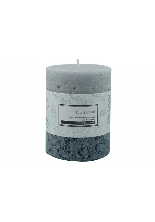 Rose Moore Scented Pillar Candle - Driftwood