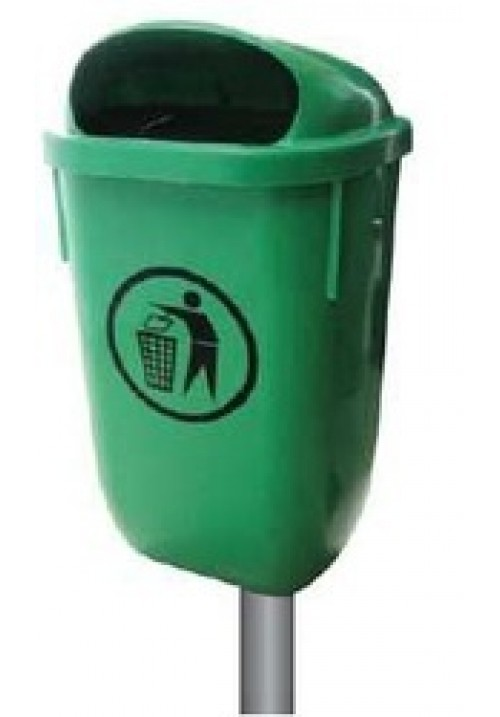 Eco Pole/Wall Mounted Bin 50 Liters - Green